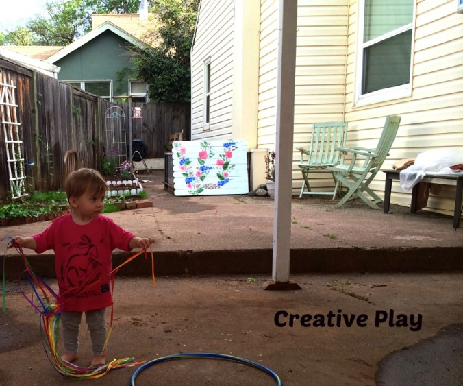 creative play, backyard